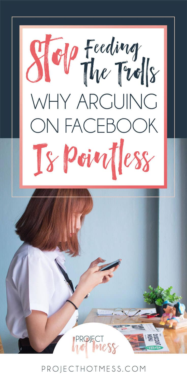 How many times have you seen an argument on Facebook and wondered 'Why bother?' Arguing on Facebook is pointless and has no positive outcomes, so why do it?