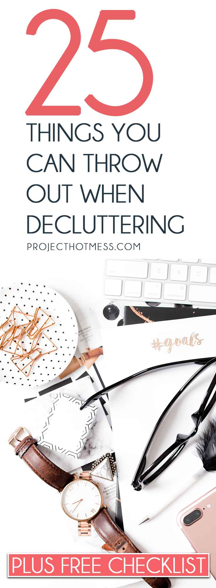 This quick sweep of things you can throw out when decluttering is crazy effective at removing clutter and creating more space in your home + FREE Decluttering Checklist Decluttering | Declutter | Marie Kondo | Decluttering Ideas | Declutter Your Home | Decluttering Tips | Decluttering Ideas | Decluttering Hacks | Minimalist