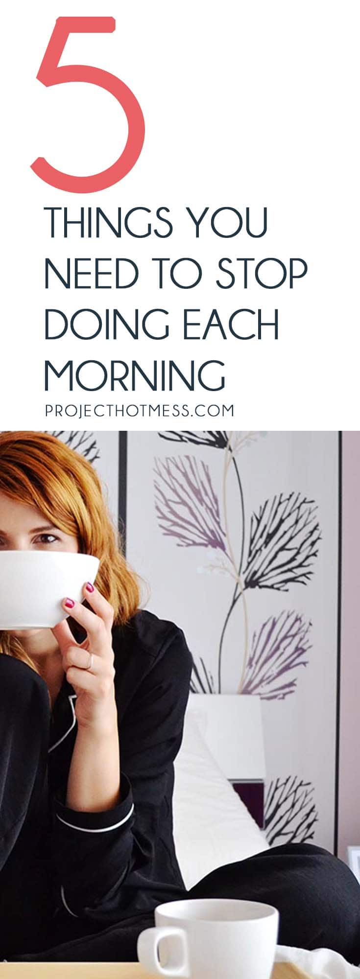 The way we start our mornings can determine how the rest of our day plays out. These are some things you need to stop doing each morning to have a great day. Morning Routine | Routines | Productivity | Productivity Hack | Productivity Tips | Have a Productive Day | Morning Habits | Daily Habits | Start Your Day | Organisation | Entrepreneur | Be Productive
