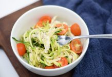 There's no replacing pasta, but these zucchini noodles come darn close. Super fast and easy meal to prepare that ticks the tasty and healthy boxes. Winner!