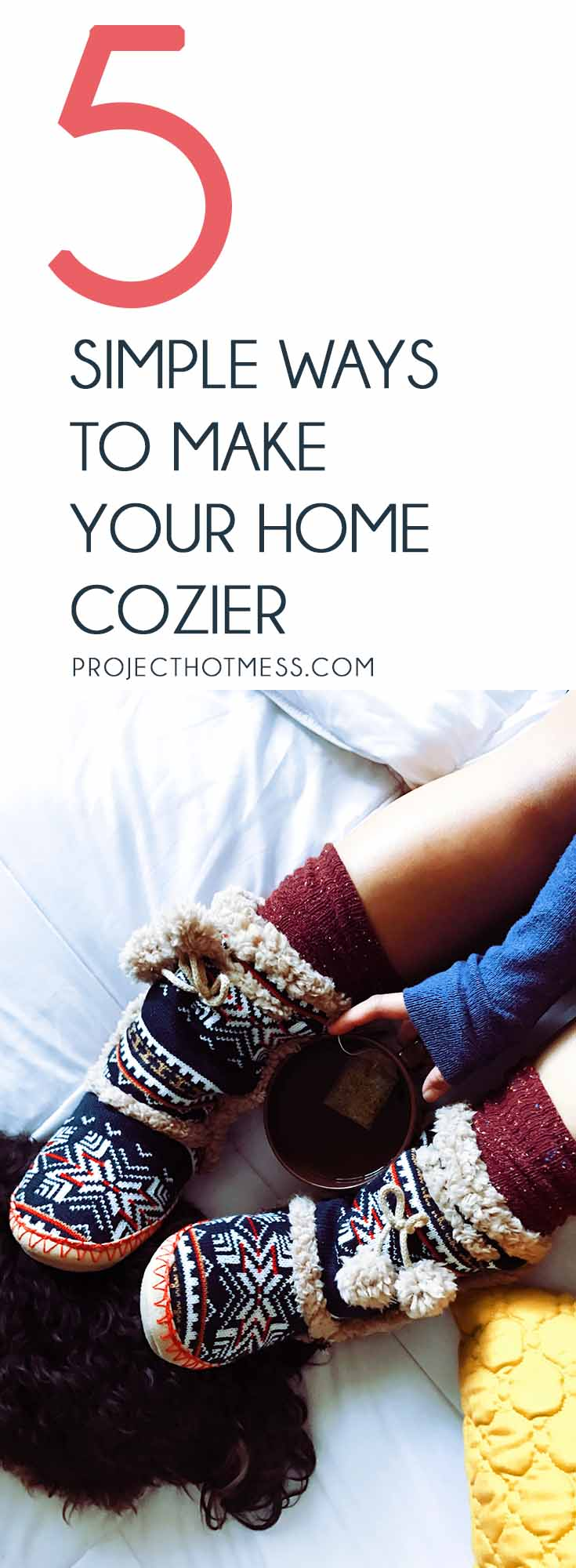 Our home is our sanctuary but too often we allow it to become stressful and chaotic. Bring back the calm by using these ways to make your home cozier. Guaranteed to make you want to snuggle up with your favorite book and relax. Hygge | Fall | Fall Homes | Fall Decor | Cozy | Cozy Home | Cozy Decor | How To Hygge