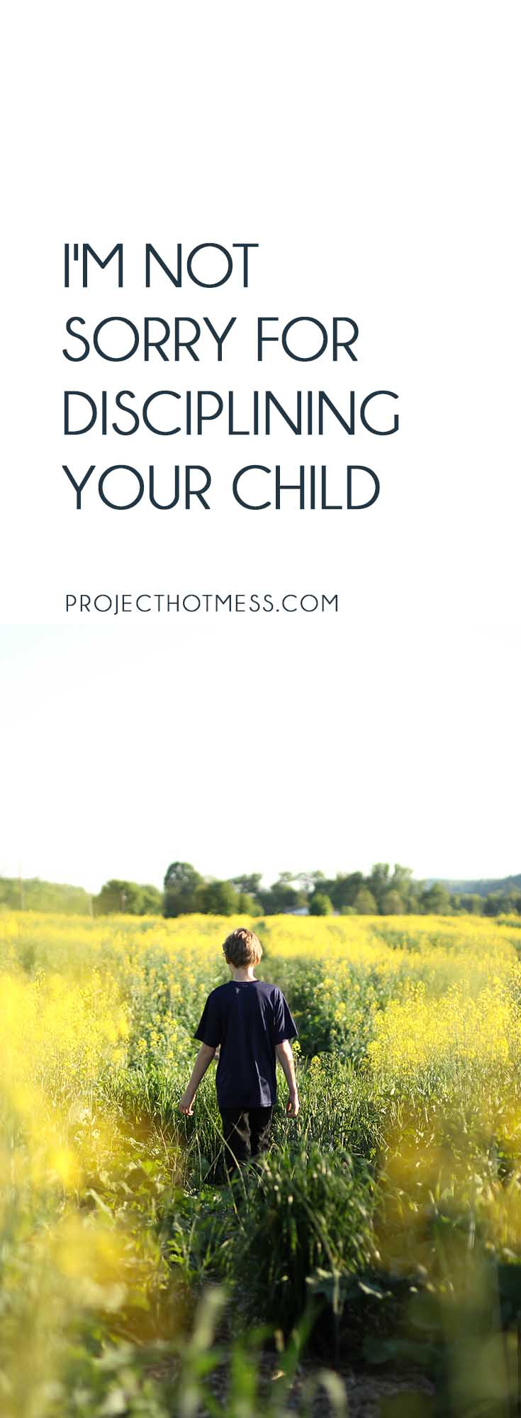 An honest letter from one Momma to another. Hopefully we see eye to eye on this one because when I'm being honest, I'm not sorry for disciplining your child. Parenting | Motherhood | Raising Boys | Raising Children | Discipline for Children