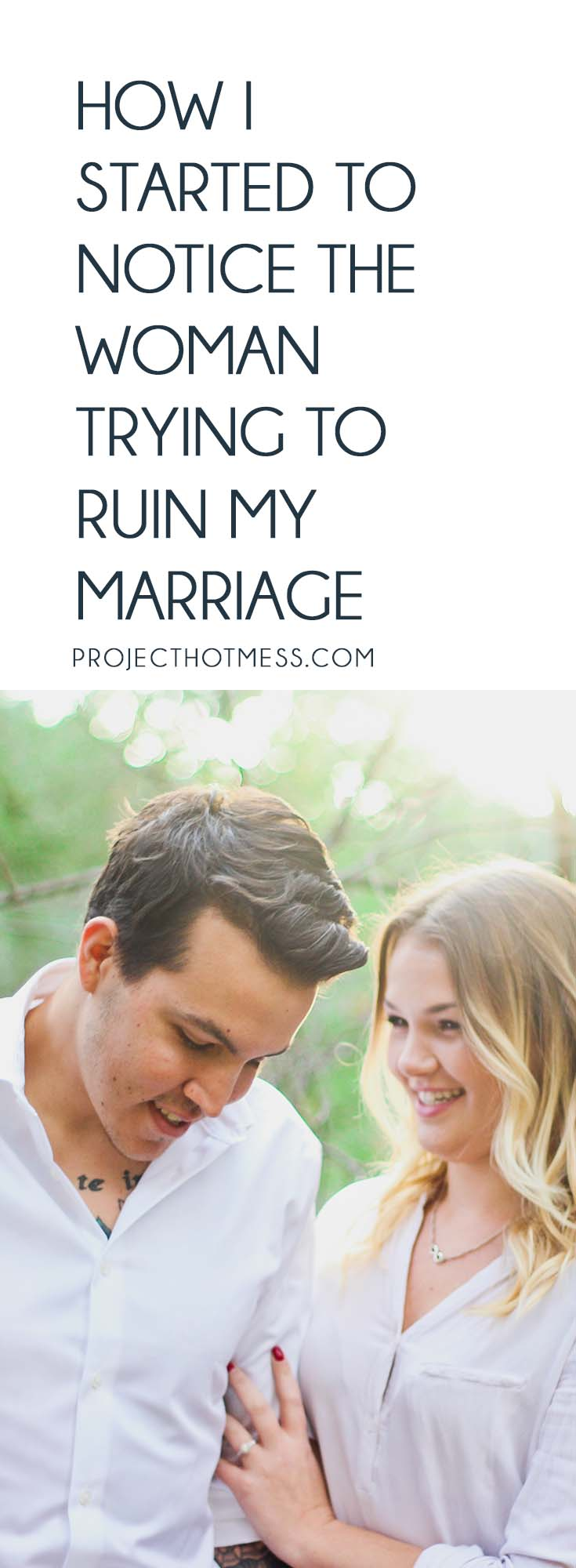 It all started innocently at first, and then I started to notice the woman trying to ruin my marriage. Stand up for your marriage and trust your husband. #marriageadvice #marriageproblems #relationshipadvice #marriagetips