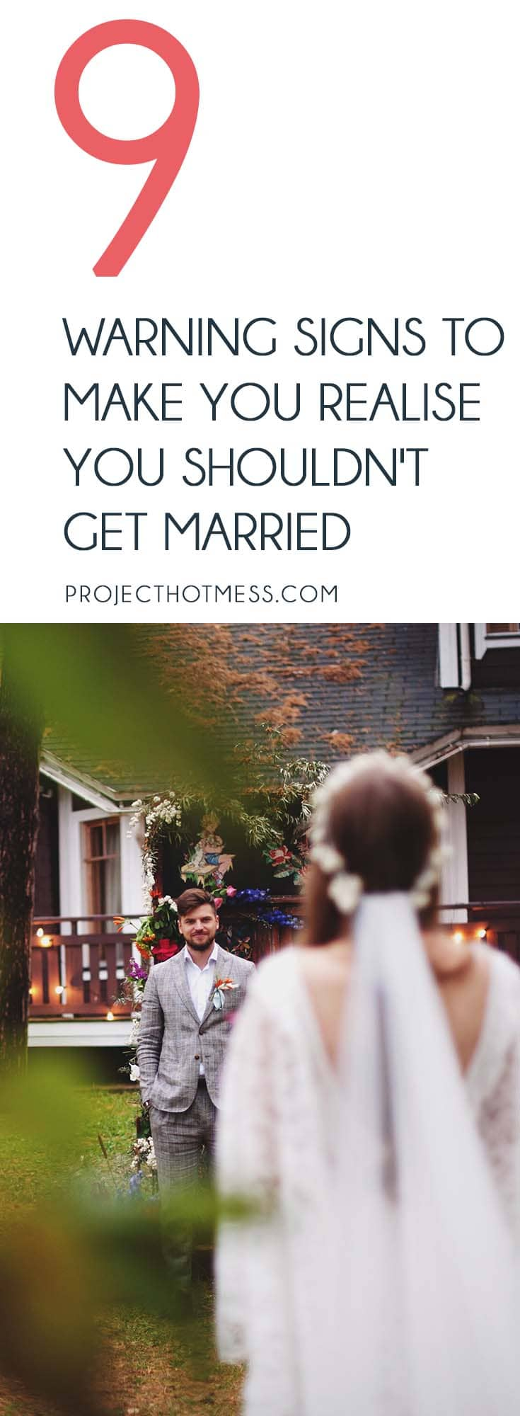 Ever get that feeling that things in your relationship aren't quite right and maybe you shouldn't get married? Keep an eye out for these warning signs.
