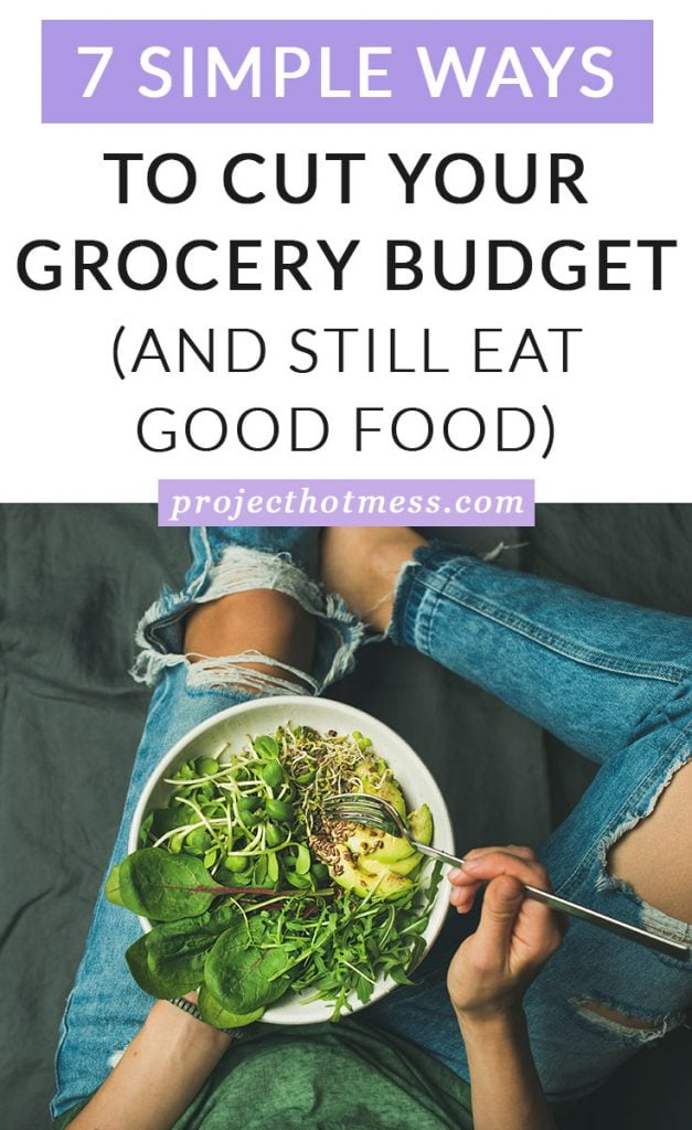 Saving money on your grocery bill doesn't have to be complicated and it doesn't mean you have to eat boring or bland food. You can still eat the meals you love, you just have to be prepared and shop in a smart way. Here are some simple ways you can cut your grocery budget without giving up eating good, healthy food that you love to eat.