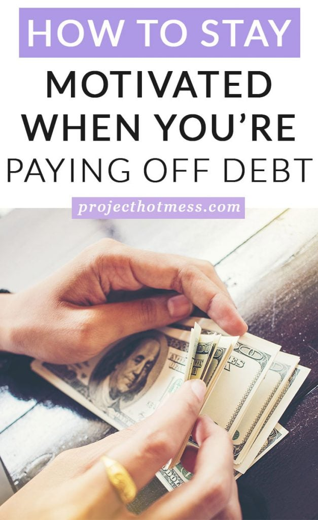 When you decide you're really committed to changing your finances and paying off debt, it's easy to become distracted, overwhelmed and simply lose interest. Paying off debt isn't a quick fix, it isn't something that happens overnight and it takes commitment every day to move towards your financial goal. Which means you have to say motivated when you're paying off debt, which isn't easy to do. Here's how we managed to stay motivated when we paid off our debt (most of the time) and you can too.